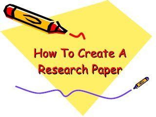 How to write a college research papers
